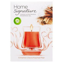 Air Wick Home Signature Candle & Gel Cinnamon Chai & Poached Pear