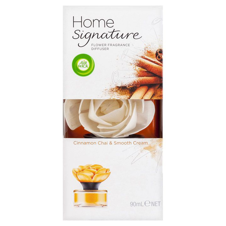 Marvelous Home Signature #6: Air Wick Home Signature Flower Diffuser Cinnamon Chai U0026 Smooth Cream 90ml