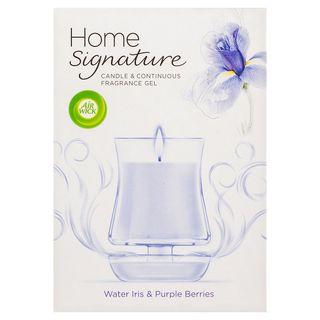 Air Wick Home Signature Candle & Gel Water Iris & Purple Berries