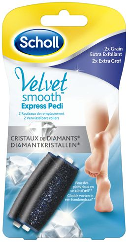 Rouleaux Velvet Smooth™ Express Pedi Grain Extra Exfoliant aux Cristaux de Diamants*