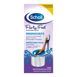 Scholl Party Feet Protecteurs talon en gel invisible