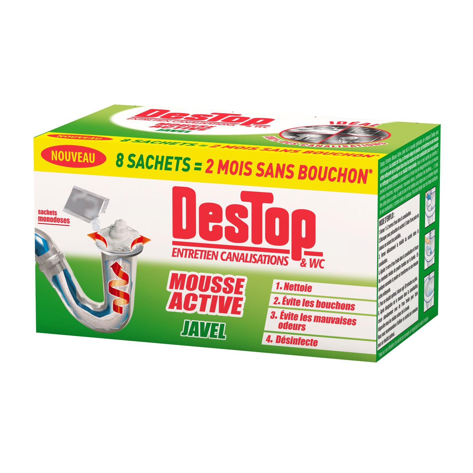 destop mousse active - Mauvaise Odeur Canalisation Salle De Bain