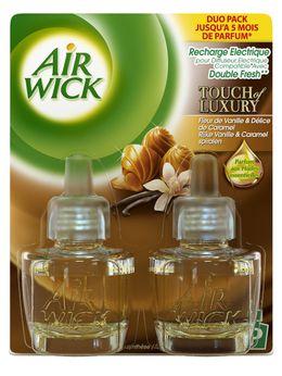 AirWick Recharge Diffuseur Electrique Duo Pack Fleur de Vanille & Délices de Caramel ¹