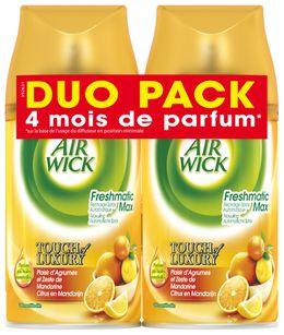 AirWick Recharge Freshmatic Max Duo Pack Plaisir d'agrûmes et zeste de Mandarine ¹