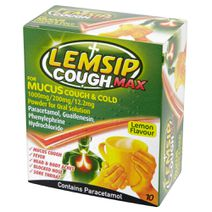 Lemsip Cough Max Mucus Cough + Cold Lemon Hot Drink 10s