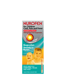 Nurofen for Children for Cold, Pain and Fever Strawberry
