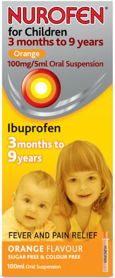 Nurofen for Children Orange 3 months to 9 years
