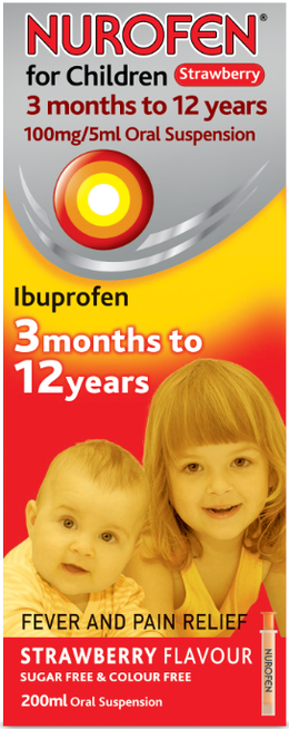 Nurofen for Children Strawberry 3 months to 12 years