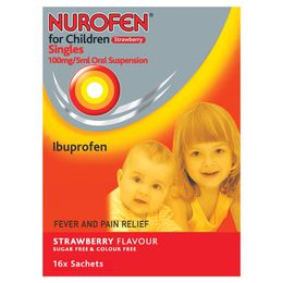 Nurofen for Children Strawberry  Singles x16