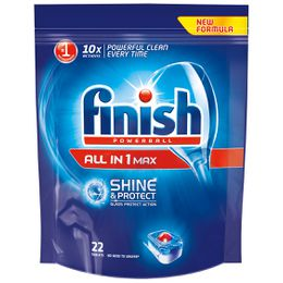 Finish All In One Shine & Protect Regular Dishwasher Tablets x22