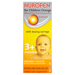 NUROFEN FOR CHILDREN ORANGE 100mg/5ml ORAL SUSPENSION