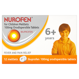 Nurofen for Children Meltlets 100mg Orodispersible Tablets