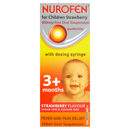 NUROFEN FOR CHILDREN STRAWBERRY 100mg/5ml ORAL SUSPENSION