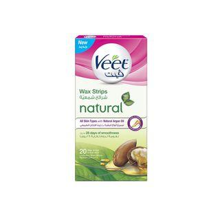 Veet Hair Remover Natural Legs Cold Wax Strips Argan Oil 20s