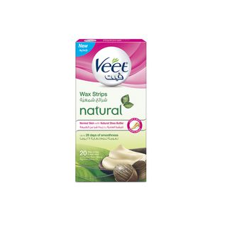 Veet Hair Remover Natural Legs Cold Wax Strips Shea Butter 20s
