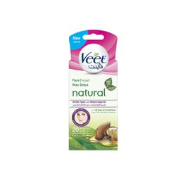 Veet Hair Remover Natural Cold Wax Strips Facial Hair Remover Argan Oil 20s