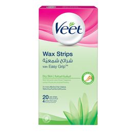 Veet Hair Remover Cold Wax Strips Dry Skin 20s