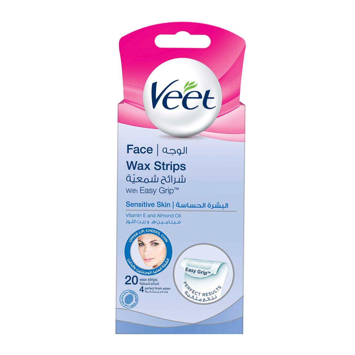 Veet Hair Remover Facial Hair Remover Face Wax Strips 20s