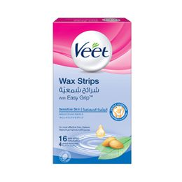 Veet Hair Remover Cold Wax Strips Sensitive Bikini & Under Arms 16s