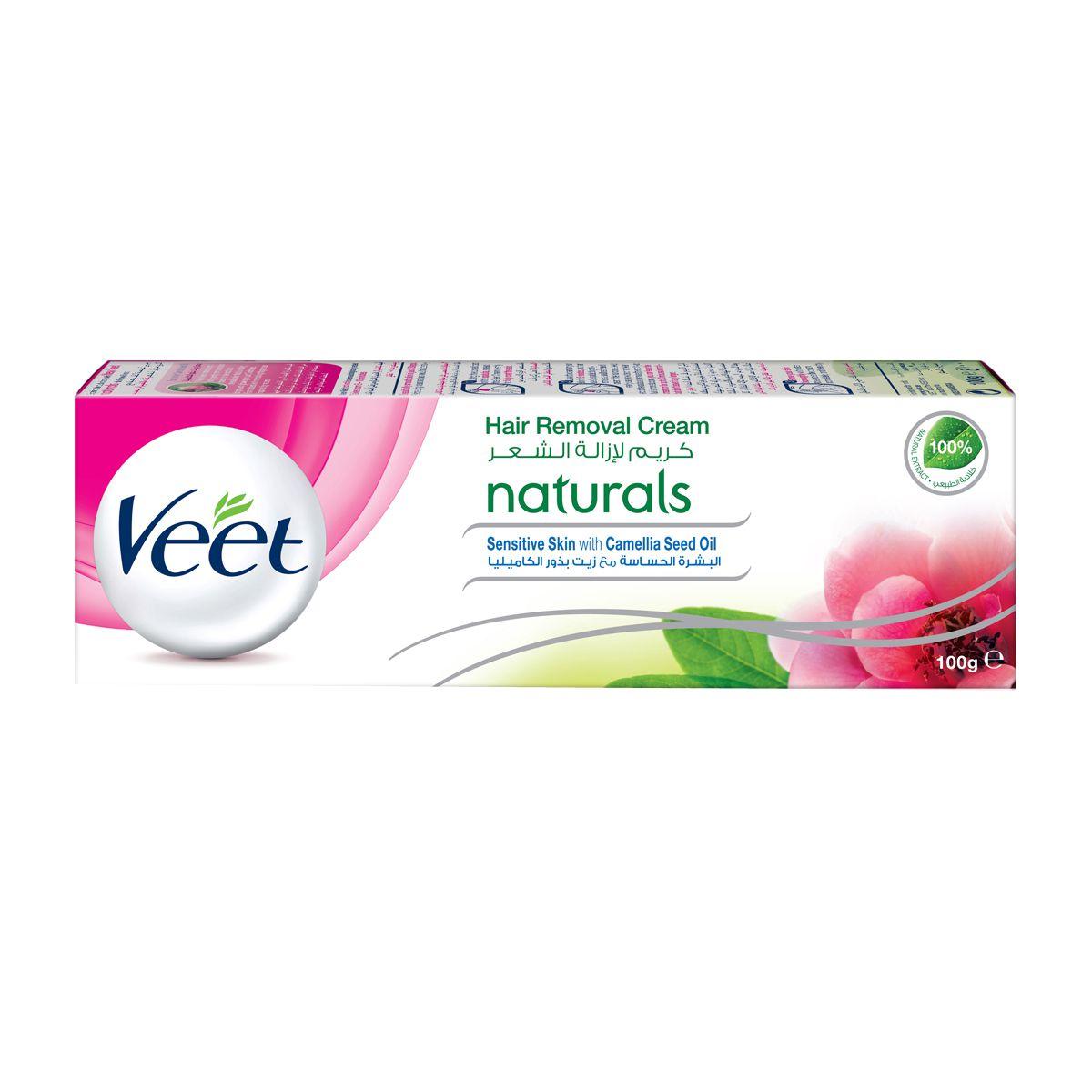 100g Veet Hair Remover Cream Naturals Sensitive Skin With Camelia