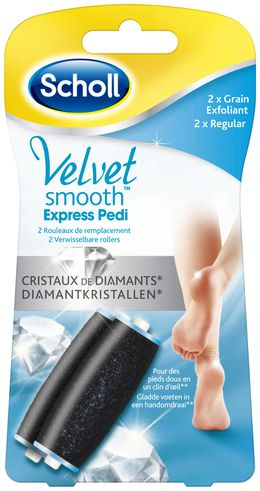 Velvet Smooth™ Express Pedi rollers Regular met diamantkristallen*