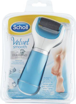 Velvet Smooth Elektrisk Fotfil med Diamantkrystaller