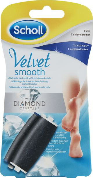 Velvet Smooth Mixed sliphuvuden med Diamantkristaller