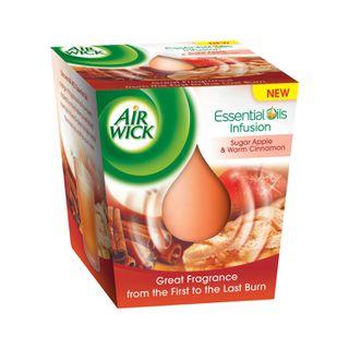 Air Wick® Candles Essential Oils Infusion - Červené Jablko a Teplá Škorica