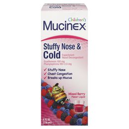 Children's MUCINEX® Stuffy Nose & Cold