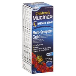 Children's MUCINEX® Night Time Multi-Symptom Cold