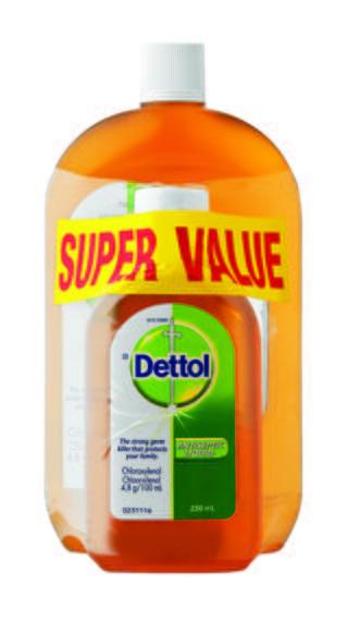Dettol antiseptic liquid 750ML and 250ML