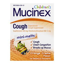 Mucinex® Children's Cough Suppressant Mini-Melts™, Orange Cream Flavor