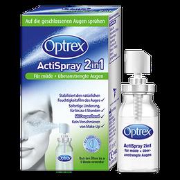 Optrex ActiSpray 2in1 Für müde + überanstrengte Augen