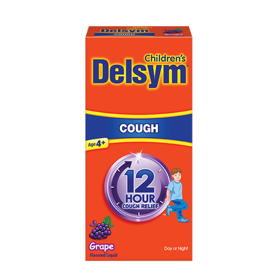 Delsym 174 12 hour cough relief for children grape flavor