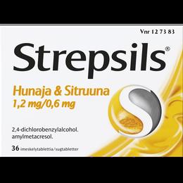 Strepsils Hunaja & Sitruuna imeskelytabletti 36 kpl.