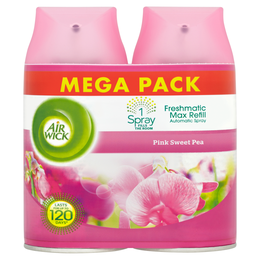 AIR WICK FRESHMATIC MAX TWIN REFILL PINK SWEET PEA