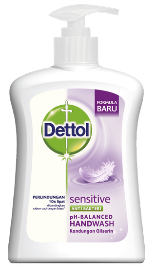 Sabun Cuci Tangan Anti Bakteri Dettol Sensitive (110ml)