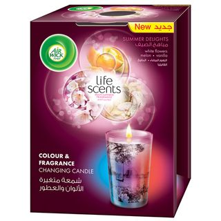 Life Scents Summer Delights Color & Fragrance Changing Candle