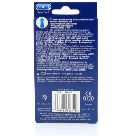 Durex XXL, 6 Kondome