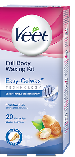 Veet® Ready to Use Wax Strips  Full Body Waxing Kit - Sensitive Skin