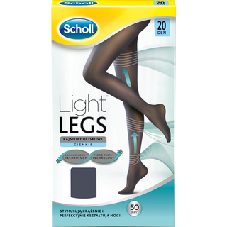 Kompresines pedkelnes Scholl Light Legs 20 Den juodos