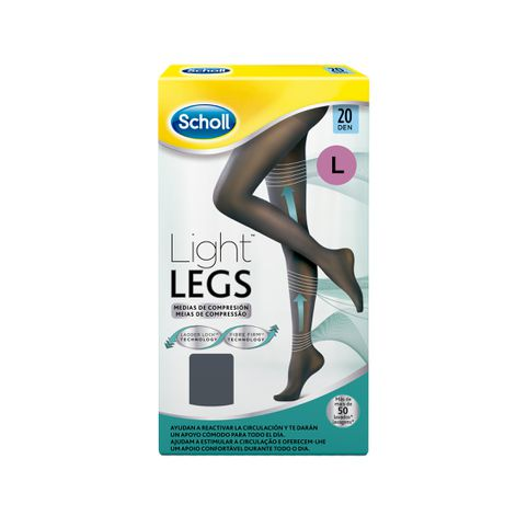 Medias de compresión ligera Scholl Light Legs 20 DEN color negro L