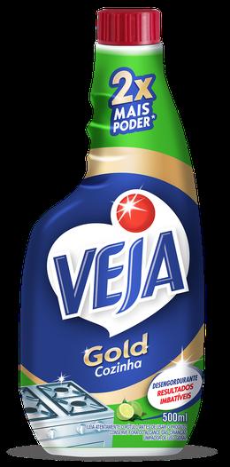 VEJA GOLD COZINHA DESENGORDURANTE LIMÃO REFIL 500ML
