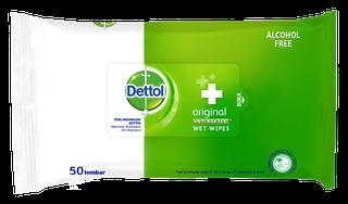 Dettol Anti Bakteri Wet Wipes Original (50 lembar)