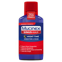 Maximum Strength Mucinex® Sinus-Max® Night Time Congestion & Cough Relief, Liquid