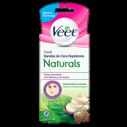 Veet® Naturals Bandas Depilatorias Faciales Easy - Gelwax™