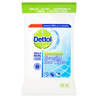 Dettol Antibacterial Cleansing Floor Wipes - 15s