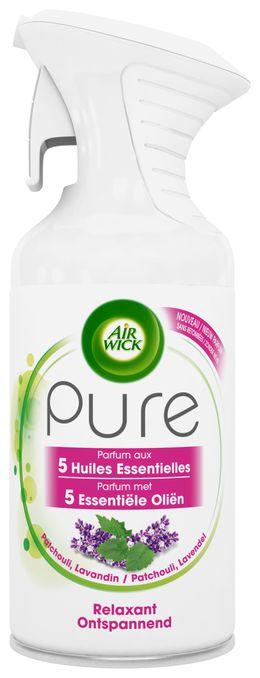 Air Wick Aérosol Pure Parfum aux Huiles Essentielles Relaxant ¹