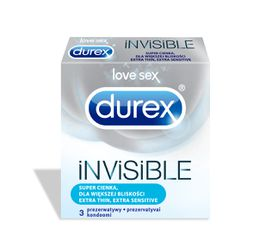 DUREX Invisible Extra Sensitive prezervatīvi
