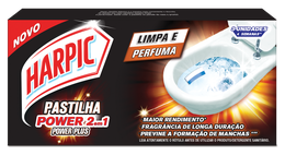HARPIC PASTILHA ADESIVA 2 EM 1 - Power Plus